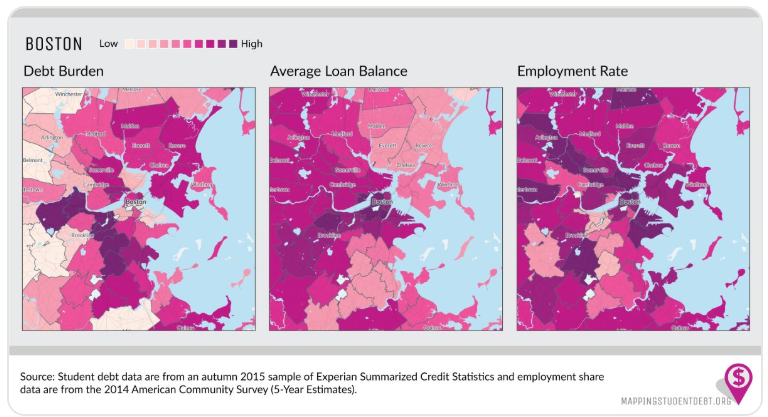 Mapping Student Debt Burden in Massachusetts